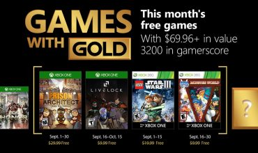 Xbox Live Games with Gold for September 2018