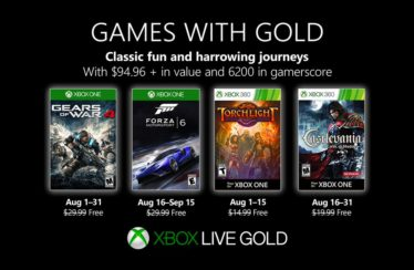Xbox Games with Gold – August 2019